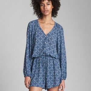Gap Long Sleeve Printed Romper